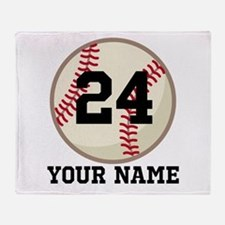 Personalized Baseball Sports Throw Blanket