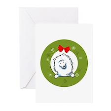 Eskie Samoyed Christmas Greeting Cards (Pk of 10)