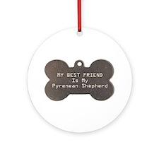 Pyrenean Friend Ornament (Round)
