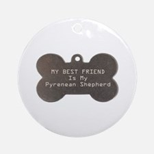 Pyrenean Friend Ornament (Round)
