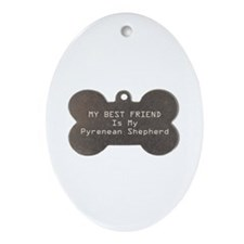 Pyrenean Friend Oval Ornament