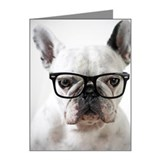 Dog glasses Note Cards (10 Pack)