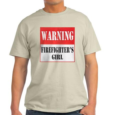 Firefighter Warning-Girl Light T-Shirt