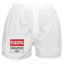 Firefighter Warning-Girl Boxer Shorts