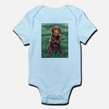 Chocolate Labrador Puppy Infant Creeper