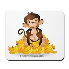 MGB - Monkey Sitting on Pile of Bananas  Mousepad