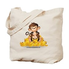 MGB - Monkey Sitting on Pile of Bananas - Tote Bag