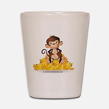 MGB - Monkey Sitting on Pile of Bananas Shot Glass
