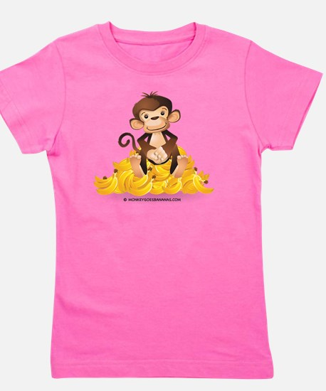 MGB - Monkey Sitting on Pile of Bananas Girl's Tee