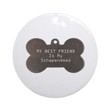 Schapendoes Friend Ornament (Round)