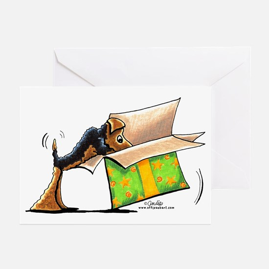 Airedale Welsh Holiday Gifts Greeting Cards (Pk of