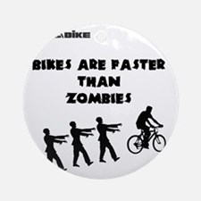 Cycling T-Shirt Design - Bikes are  Round Ornament