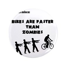 "Cycling T-Shirt Design - Bikes are Fas 3.5"" Button"