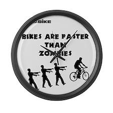 Cycling T-Shirt Design - Bikes ar Large Wall Clock