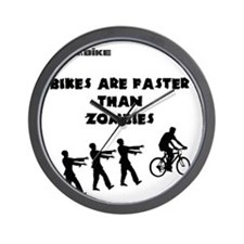 Cycling T-Shirt Design - Bikes are Fast Wall Clock