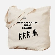 Cycling T-Shirt Design - Bikes are Faster Tote Bag