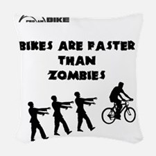 Cycling T-Shirt Design - Bikes Woven Throw Pillow