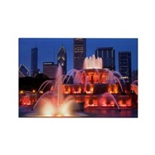 Buckingham Fountain in Grant Park Rectangle Magnet