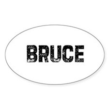 Bruce Oval Decal