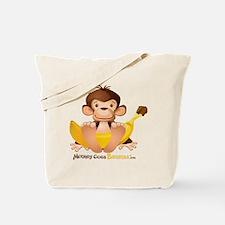 MGB - Monkey Sitting holding Giant Banana Tote Bag