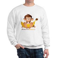 MGB - Monkey Sitting holding Giant Bana Sweatshirt