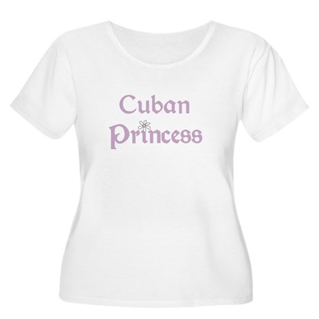 Cuban Princess Women's Plus Size Scoop Neck T-Shir