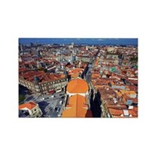 View from Clerigos Tower, Porto,  Rectangle Magnet