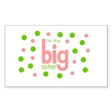 i'm the big sister polkadot Rectangle Decal