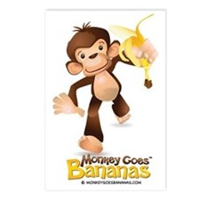 MGB - Monkey Running hold Postcards (Package of 8)