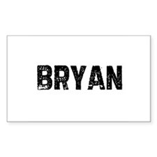 Bryan Rectangle Decal