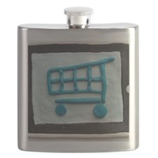 The digital tablet viewing the Shopping cart Flask