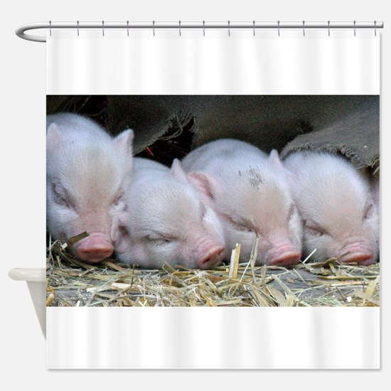 Funny Piglet Shower Curtain