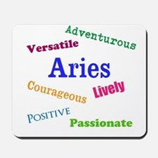 Aries Traits Characteristics Mousepad