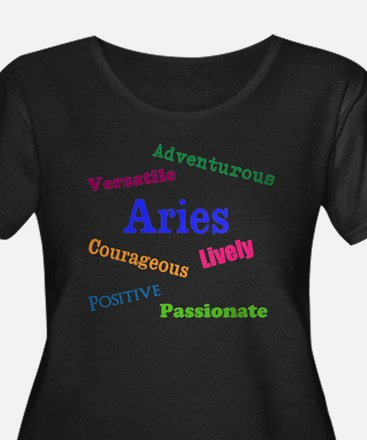 Aries Traits Characteristics Plus Size T-Shirt