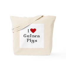 Guinea Pig Tote Bag: I Love Guinea Pigs