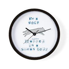 I'm a Wolf Wall Clock