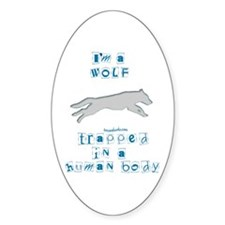 I'm a Wolf Oval Decal