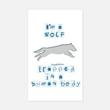 I'm a Wolf Rectangle Decal