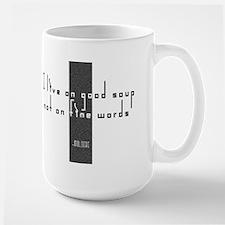 Good Soup Fine Words Mug