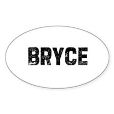 Bryce Oval Decal