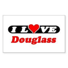 I Love Douglass Rectangle Decal