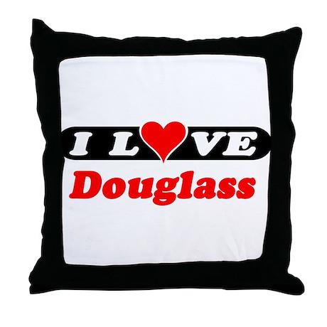 I Love Douglass Throw Pillow