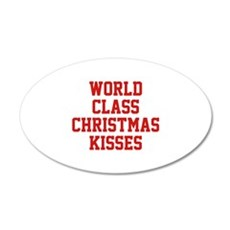 World Class Christmas Kisses 22x14 Oval Wall Peel