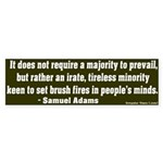 Samuel Adams Saying Bumper Sticker