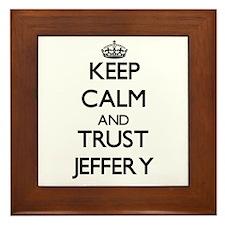 Keep Calm and TRUST Jeffery Framed Tile