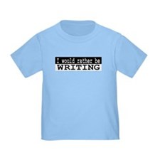 Rather Write Infant Toddler Blue T-Shirt