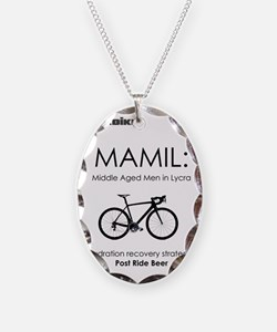 Cycling T Shirt Design - MAMIL Necklace