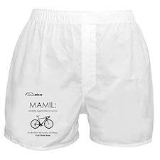 Cycling T Shirt Design - MAMIL (middl Boxer Shorts