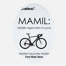 Cycling T Shirt Design - MAMIL (midd Oval Ornament