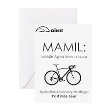 Cycling T Shirt Design - MAMIL (midd Greeting Card
